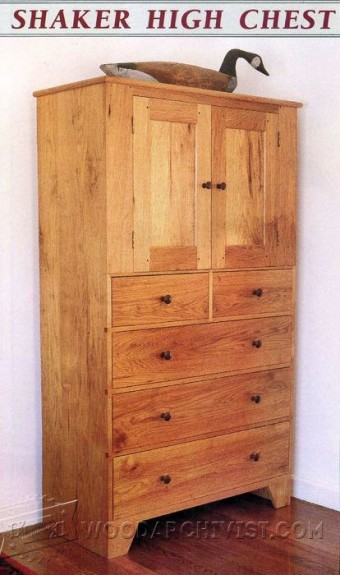 Tall Chest Of Drawers Plans WoodArchivist