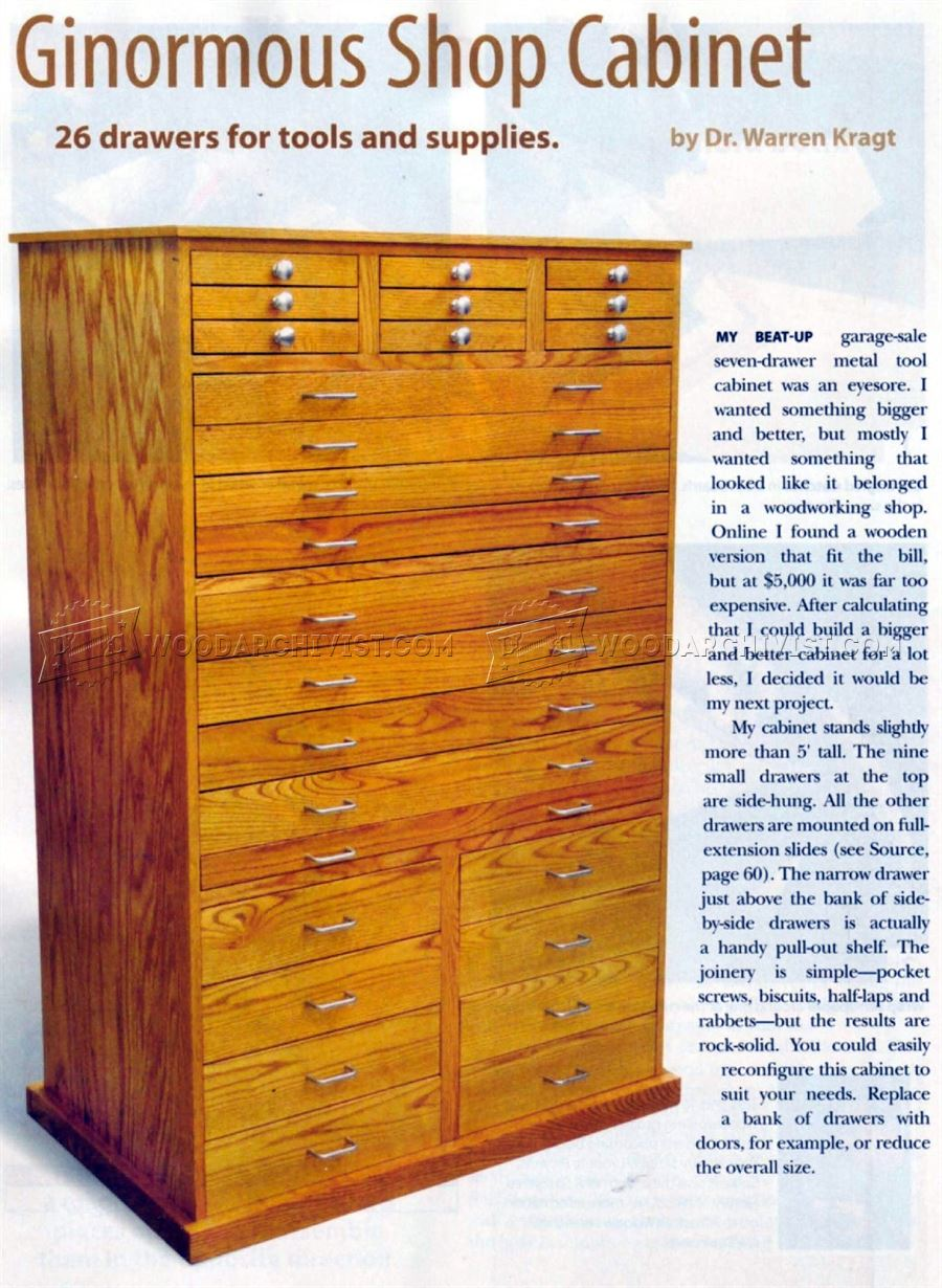 Ginormous Shop Cabinet Plans  WoodArchivist