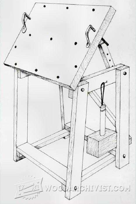 Relief Carving Workbench Plan • WoodArchivist