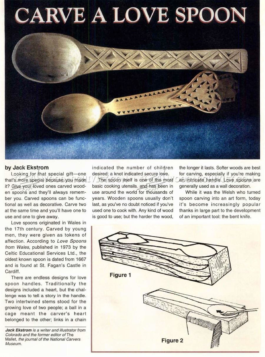 Carving Spoon Wood Carving Patterns WoodArchivist