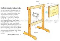 Sawhorse-Mounted Outfeed Roller  WoodArchivist