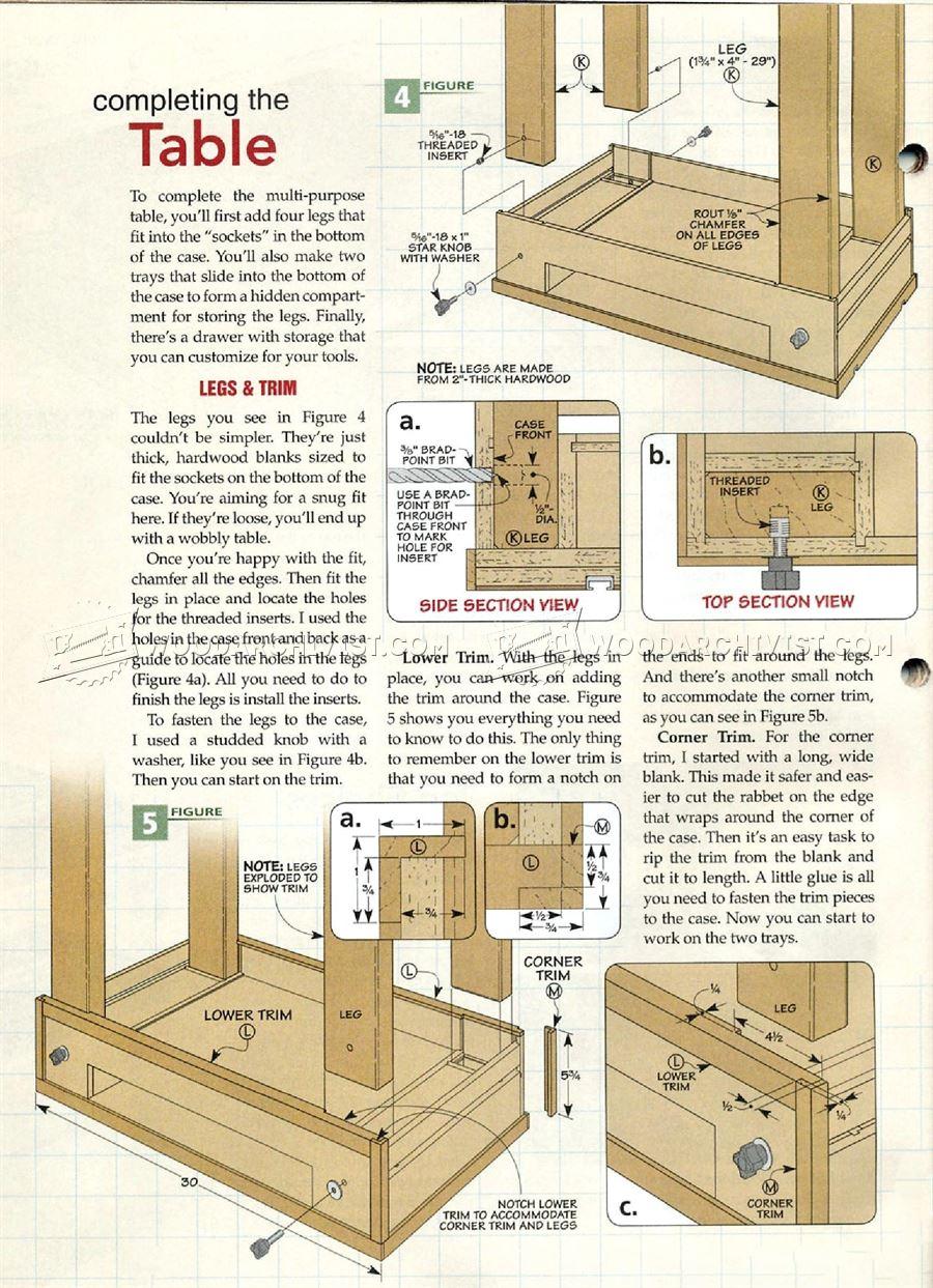 Carving Table Plans  WoodArchivist