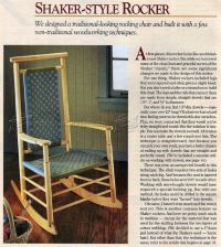 Shaker-Style Rocking Chair Plans  WoodArchivist