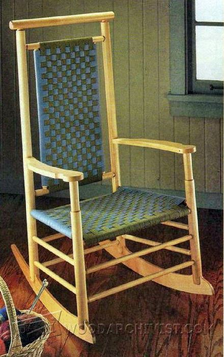 ShakerStyle Rocking Chair Plans  WoodArchivist
