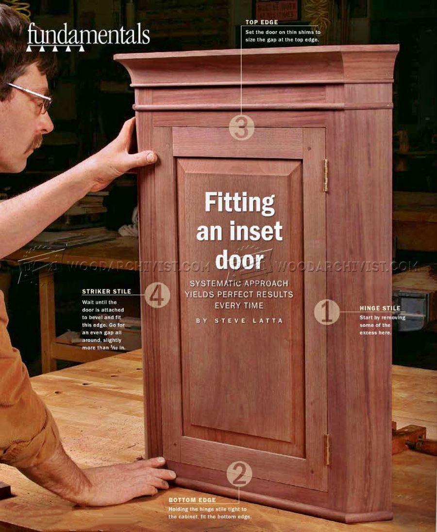 Fitting an Inset Door  WoodArchivist