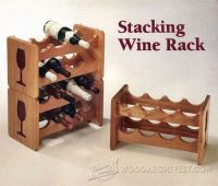 Stacking Wine Rack Plans  WoodArchivist