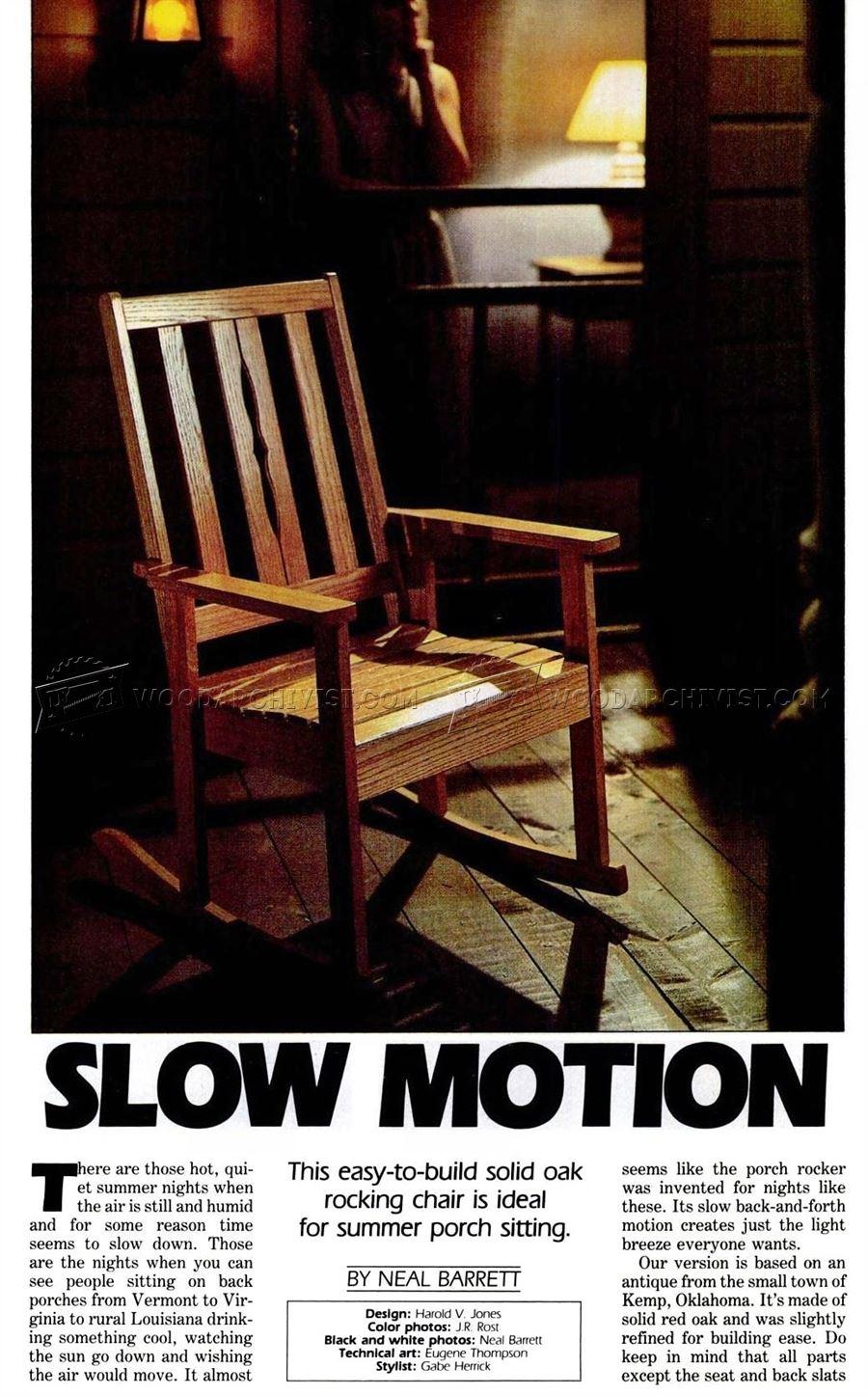 oak rocking chair plans ikea lillberg covers solid woodarchivist