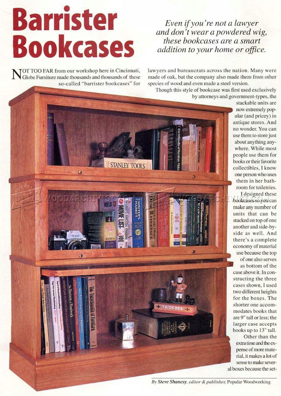 Barrister Bookcase Plans Woodarchivist