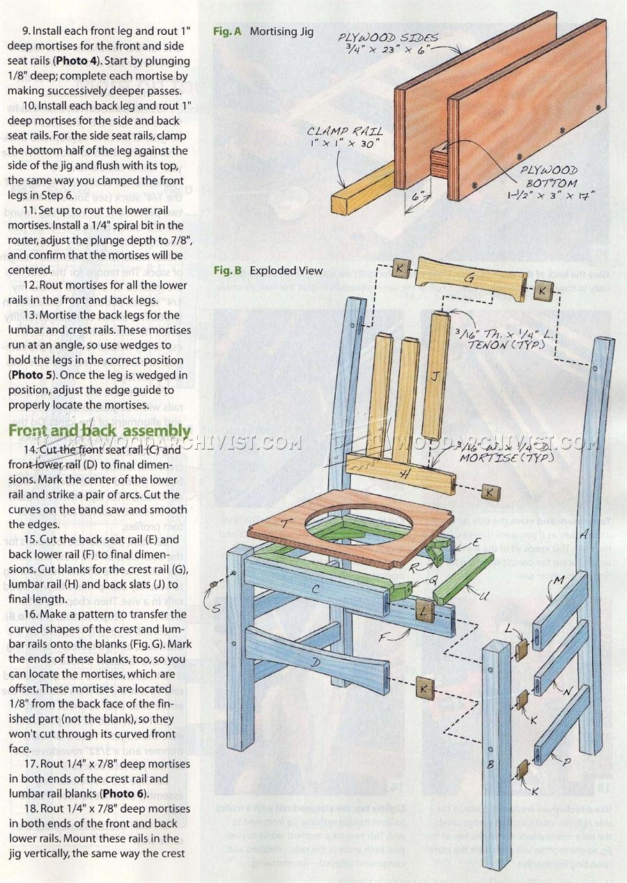 sofa glue band slide under table plans stickley chair • woodarchivist
