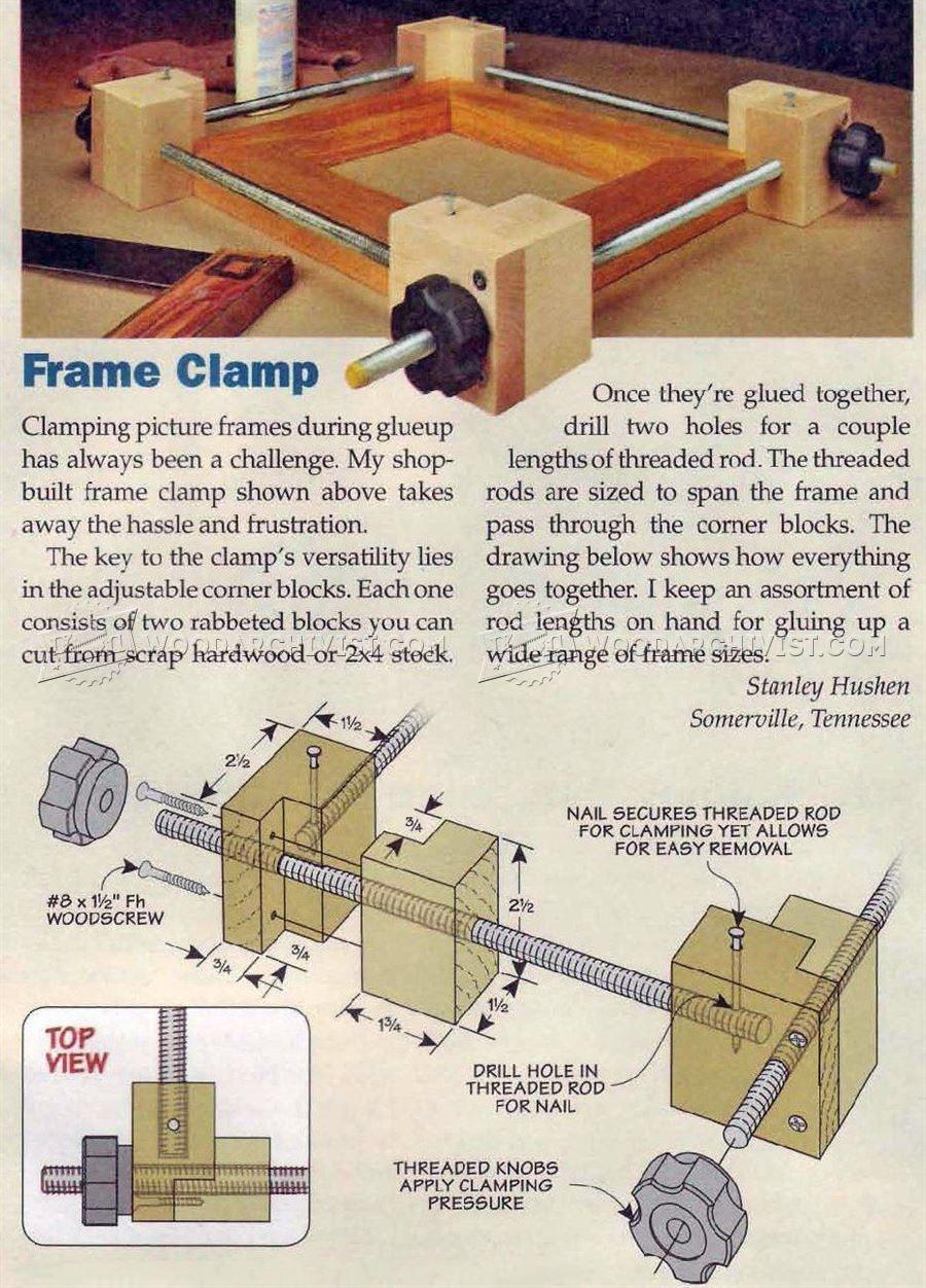 DIY Frame Clamp  WoodArchivist