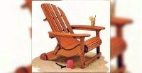 Folding Adirondack Chair Plans  WoodArchivist
