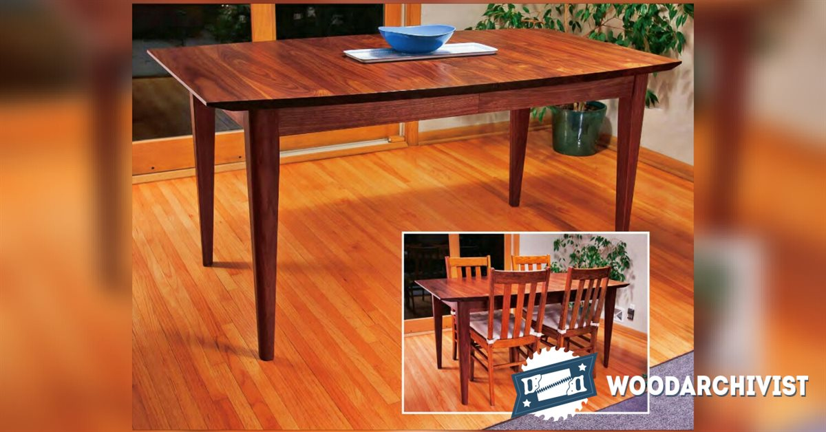 Extension Dining Table Plans • WoodArchivist