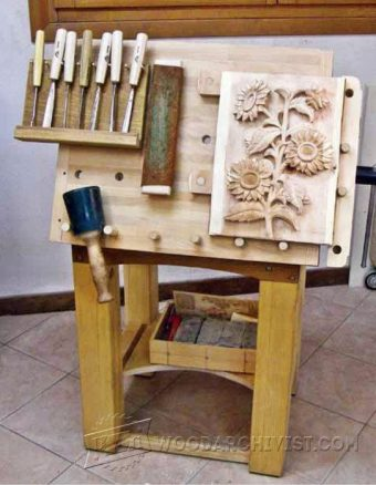Portable Carving Bench Plans  WoodArchivist