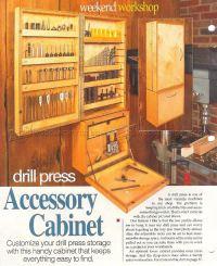 Drill Press Accessory Cabinet Plans  WoodArchivist
