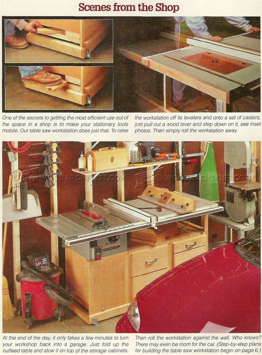 Table Saw Workstation Plans  WoodArchivist