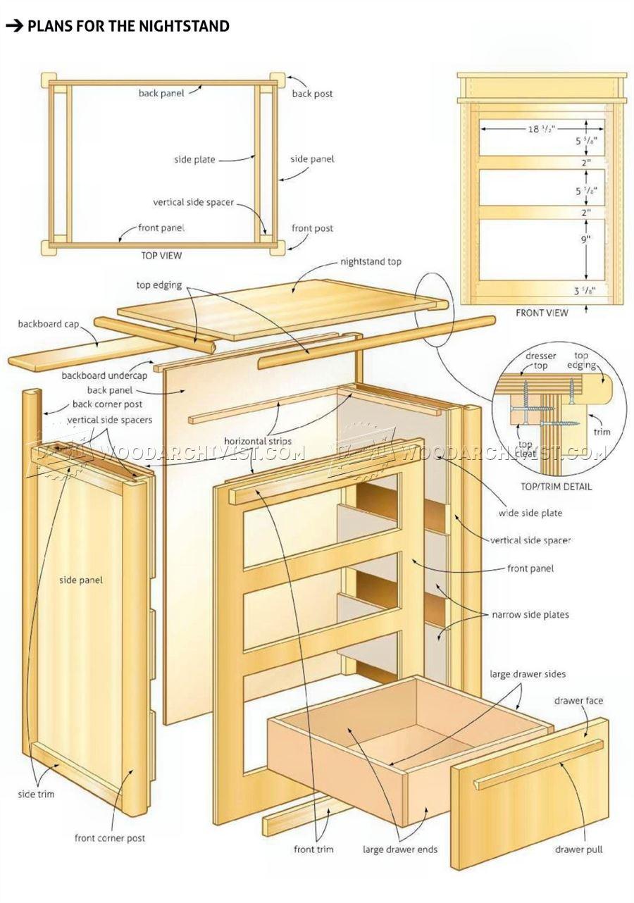 Bed End Nightstand Plans Woodarchivist