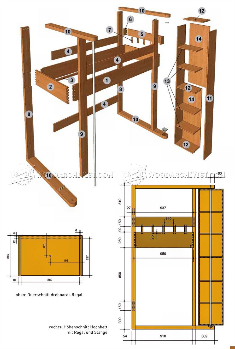 Loft Bed Plans  WoodArchivist
