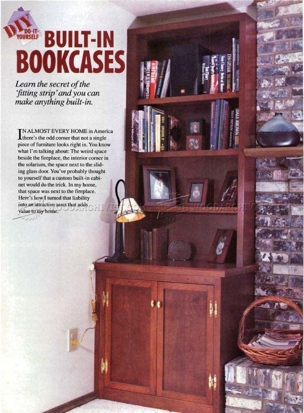 DIY Built in Bookcase Plans