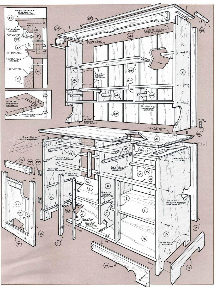 kitchen hutch cabinet decor cheap pine cupboard plans • woodarchivist