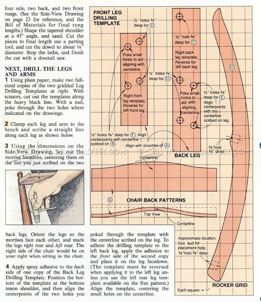 #1324 Childs Rocking Chair Plans  WoodArchivist