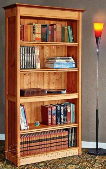 18 Mission Oak BuiltIn Bookcase Plans  WoodArchivist