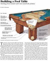 Build Pool Table  WoodArchivist