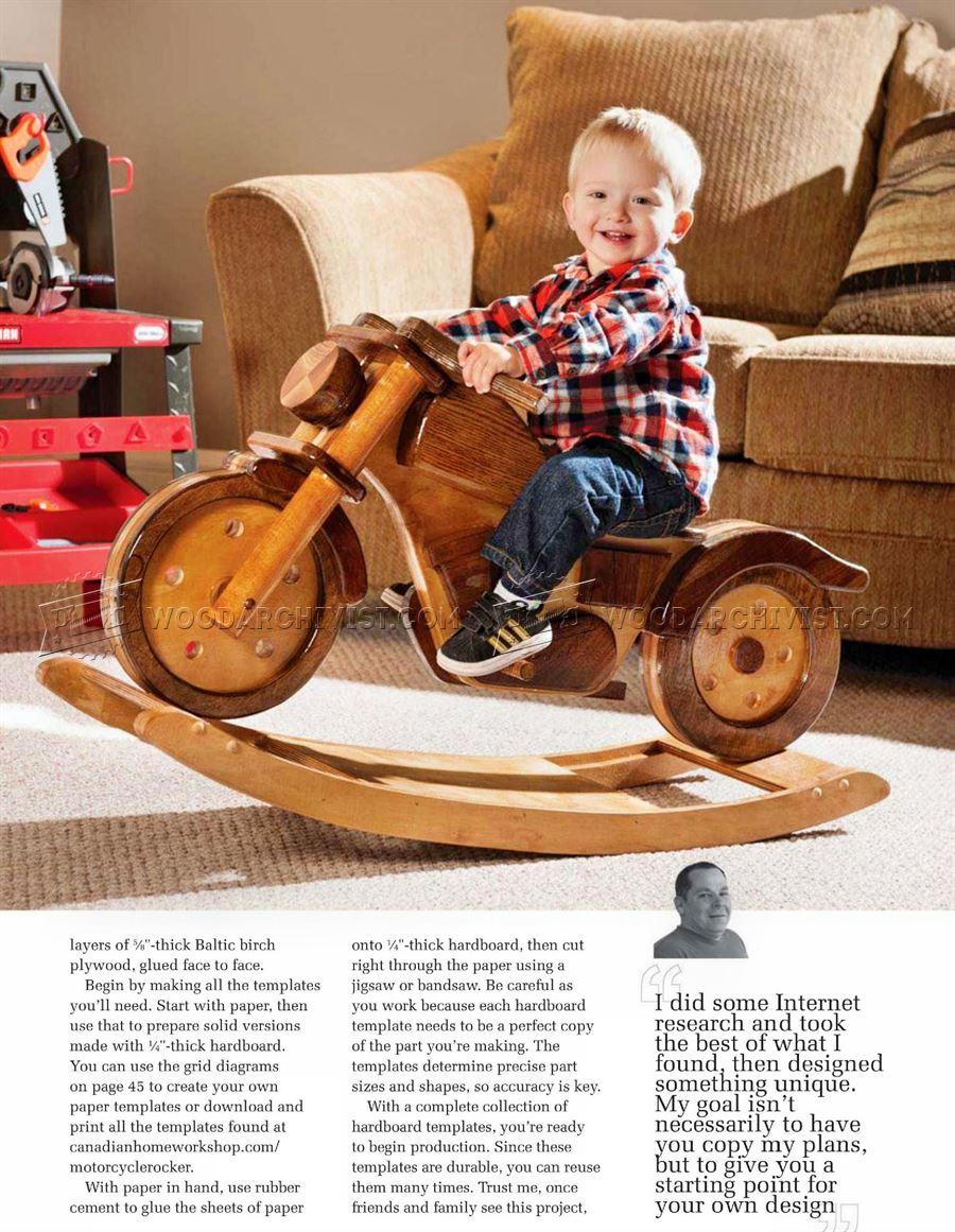 Rocking Motorcycle Plans  WoodArchivist