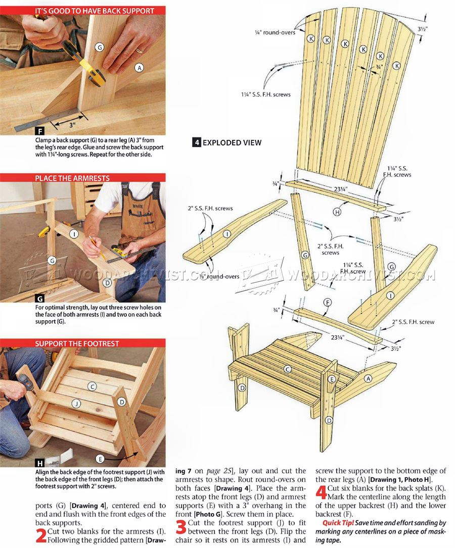 1549 Adirondack Chair Plans  WoodArchivist