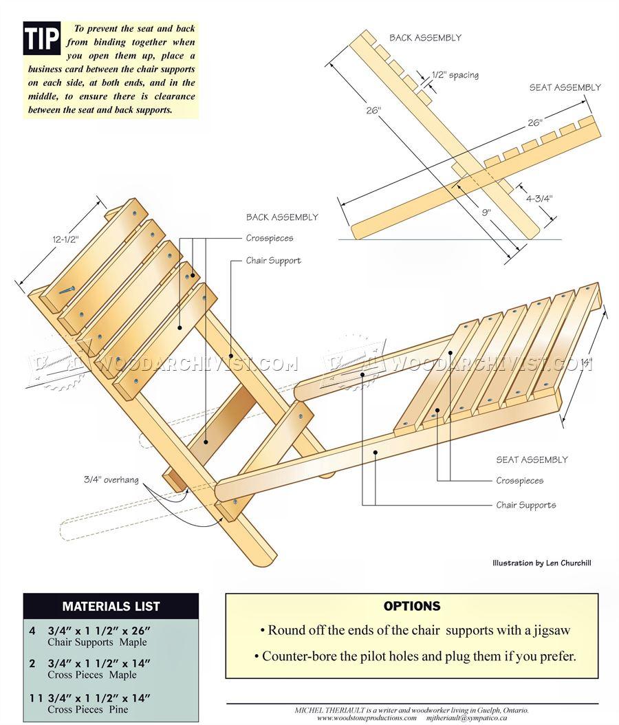 Folding Chair Plans  WoodArchivist