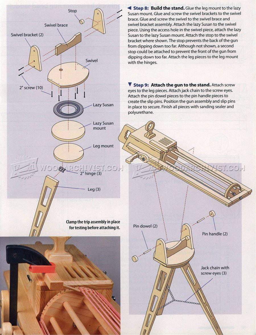 RapidFire Rubber Band Gun  WoodArchivist