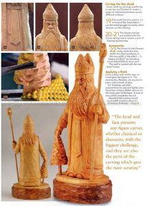 Carving St Nicholas - Wood Patterns Woodarchivist