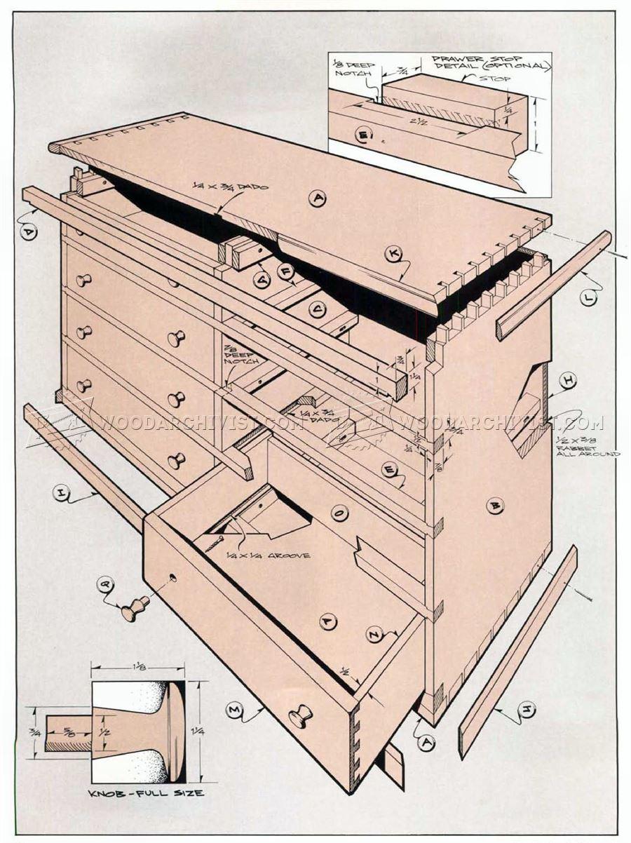 Weavers Chest of Drawers Plans  WoodArchivist