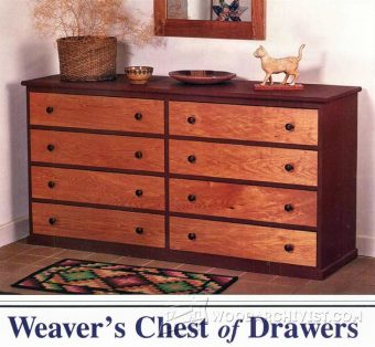 Drawer Dresser Plans  WoodArchivist
