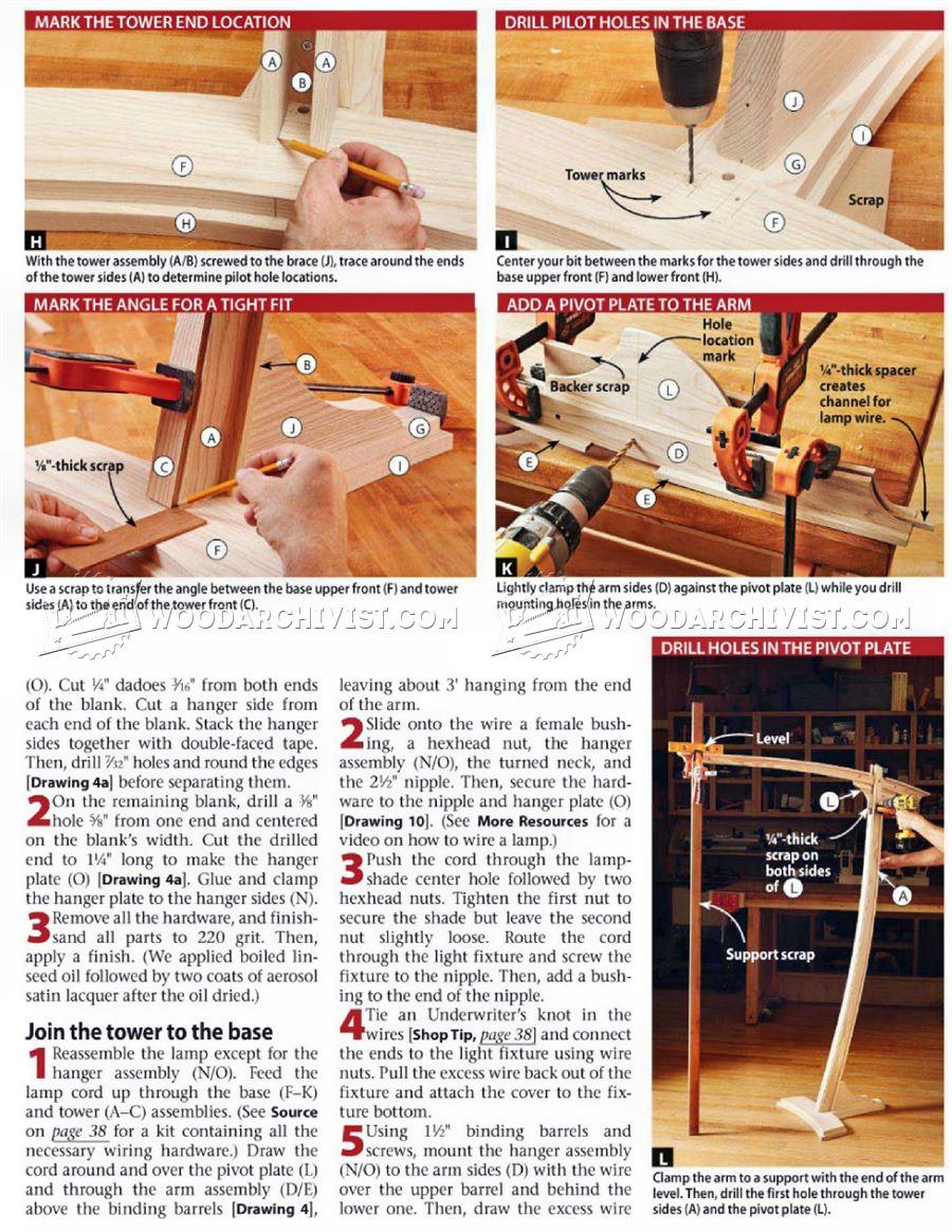 1647 Wooden Floor Lamp Plans  WoodArchivist