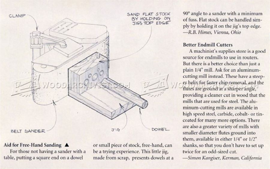 Dowel Sanding Jig • WoodArchivist
