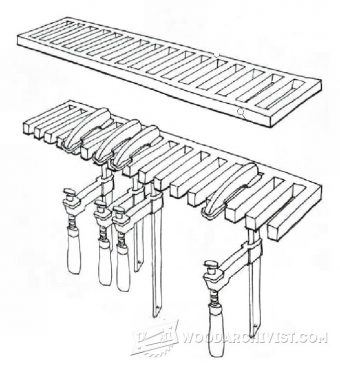 Wall Mounted Clamp Rack Plans • WoodArchivist