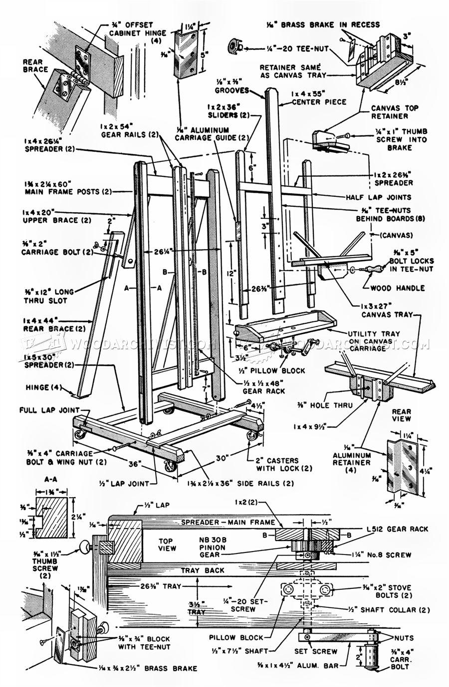 Artist Easel Plans • WoodArchivist