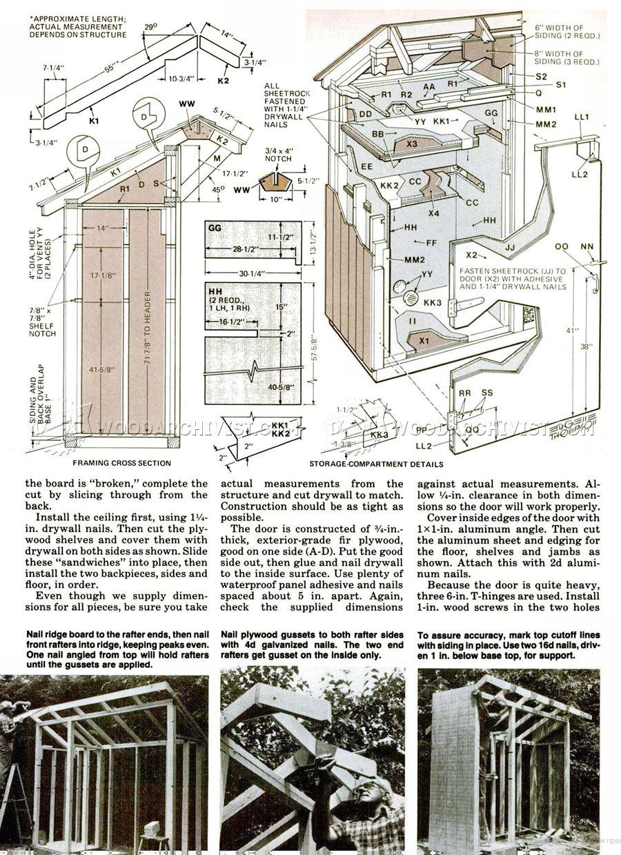 Woodshed Plans  WoodArchivist
