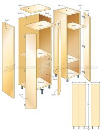 Tall Storage Cabinet Plans  WoodArchivist