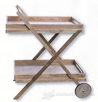 1372 Folding Serving Tray Table Plans  WoodArchivist