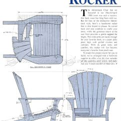 Folding Chairs With Footrest Desk Chair Best Buy Adirondack Rocking Plans • Woodarchivist