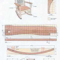 Rocking Chair Woodworking Plans Storage Cart #1861 Craftsman • Woodarchivist