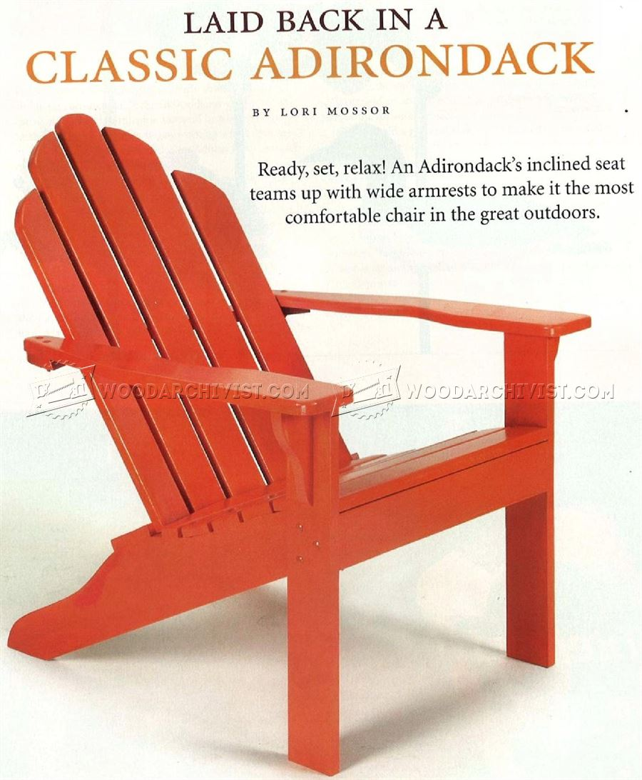 Classic Adirondack Chair Plans  WoodArchivist
