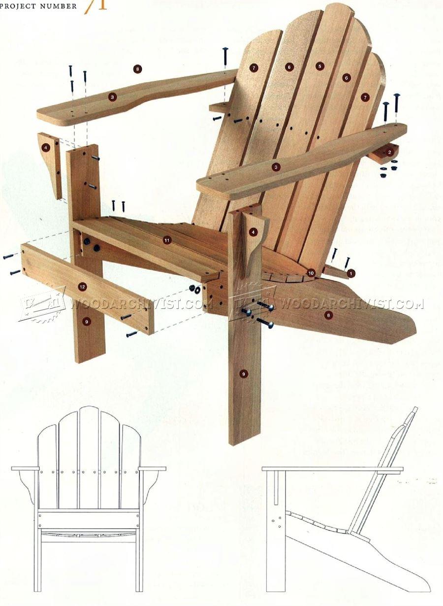 Classic Adirondack Chair Plans  WoodArchivist