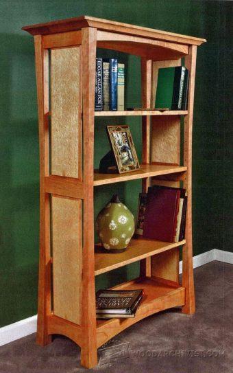 Mission Oak Built In Bookcase Plans Woodarchivist