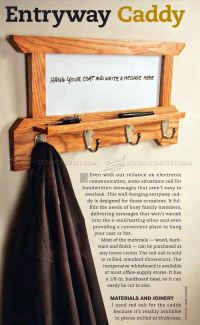 Wall Mounted Coat Rack Plans  WoodArchivist