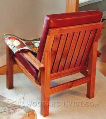 Outdoor Lounge Chair Plans Woodarchivist