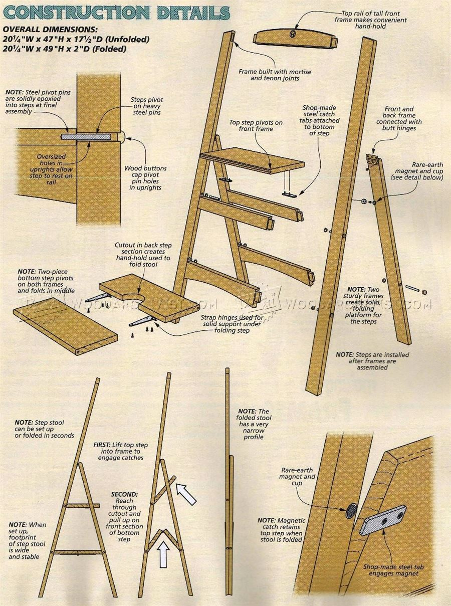wooden step stool chair 2 seat kitchen table and chairs folding plans • woodarchivist