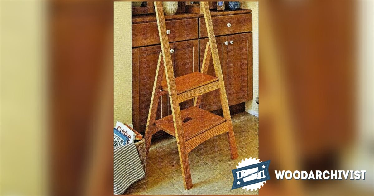 folding chair plans wood rocking office step stool • woodarchivist