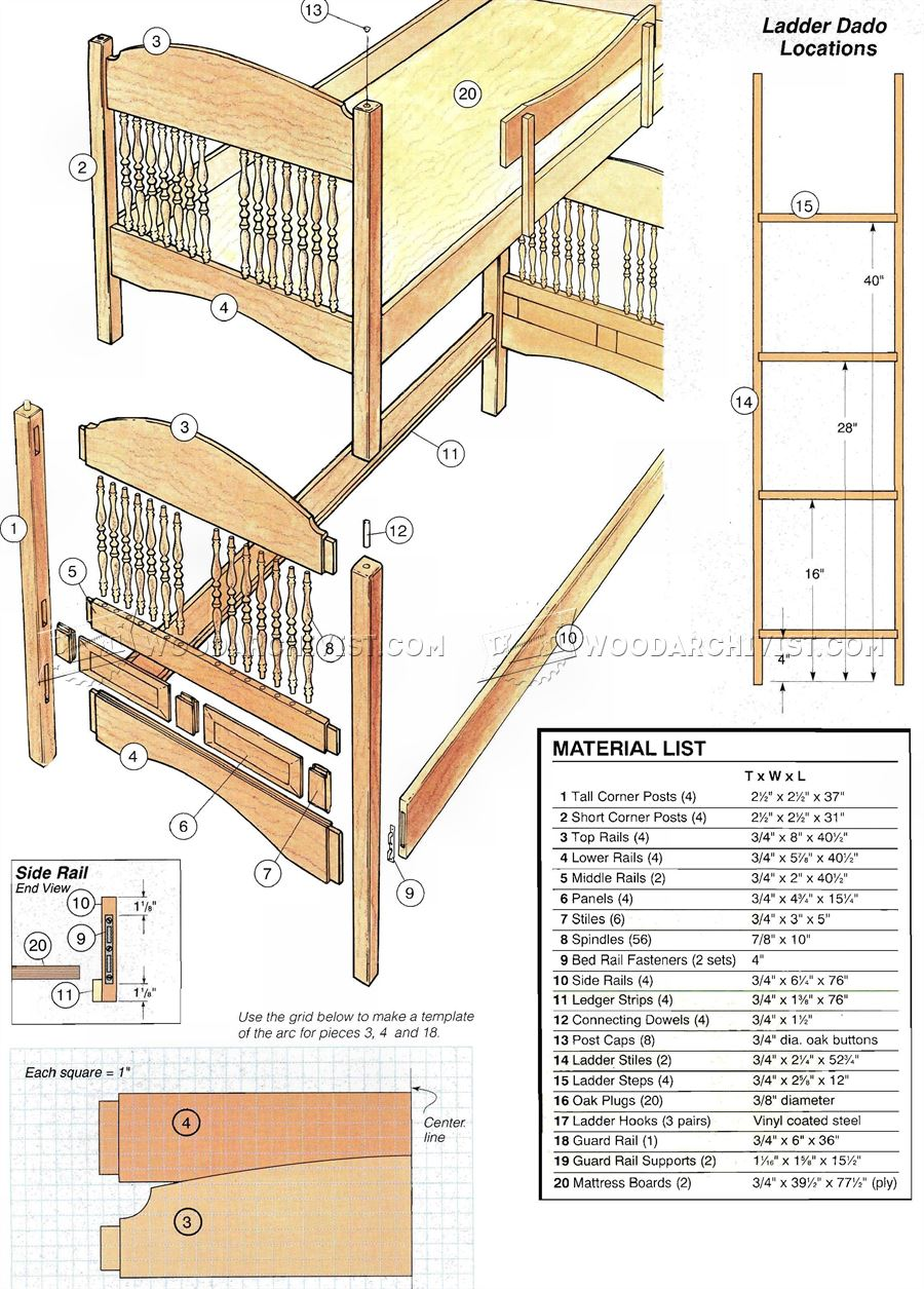 wood childrens table and chairs living room swivel colonial bunk bed plans • woodarchivist